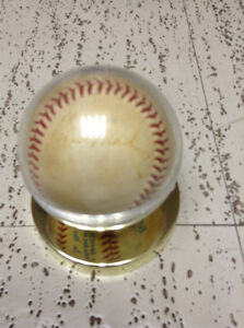 """Official game ball with """"Buck Martinez"""" autograph"""