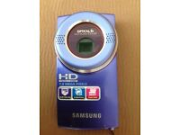 For sale - Samsung HD SD card camcorder boxed 16 gig SD card included