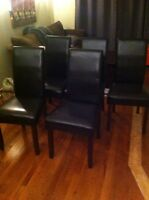 Gorgeous Parsons Chairs - EXCELLENT CONDITION - $40 (Danforth &