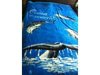 Dolphin print blanket