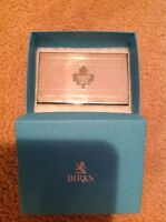 Birks Silver Plated Toronto Maple Leafs Business Card Holder