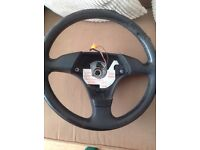 BMW e36 steering wheel AND OEM AIRBAG FULL WORKING ORDER FOR SALE