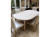 Diningtable round or oval