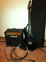 Ibanez Gio Electric Guitar and Marshal Amp. Great Condition!