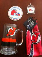VENTE DE GARAGE! 4 items DEVILS- NORDIQUES (hockey) exc.cond