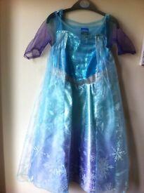 Frozen light up dress 3-4