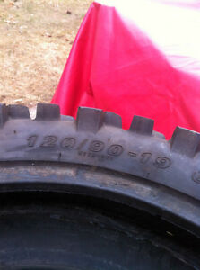 DIRT BIKE TIRE 120/90-19 66M KENDA CARLSBAD K772 VERY GOOD COND Windsor Region Ontario image 3