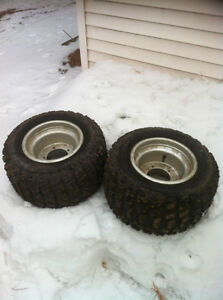 ATV 5 BOLT DID WHEELS WITH STUDDED TIRES FOR ICE Windsor Region Ontario image 1