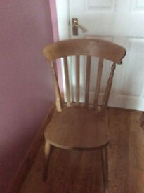 3 beech kitchen chairs