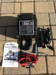 Electric 12v portable winch to install on a hitch ball, new