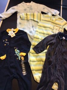 4 pairs size 12 month PJs