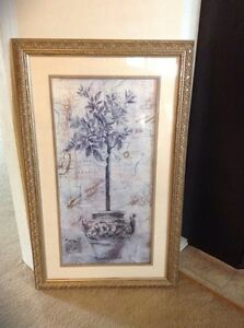 Large vintage picture frame 44 by 27.5 inches