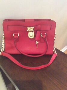 Red Small Michael Kors Hamilton Purse