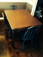 Real wood table and chairs approximately 60-80 years old