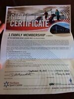 Annual family membership for the Northern Sport Centre