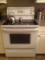 "30"" stove Convection oven Glass top range for sale"