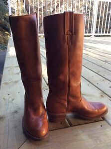 Brown Leather Boots Strathcona County Edmonton Area image 1