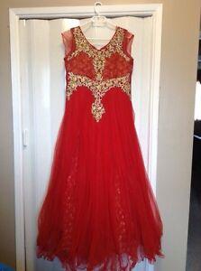 Fancy Red Dress Size XL 16-18