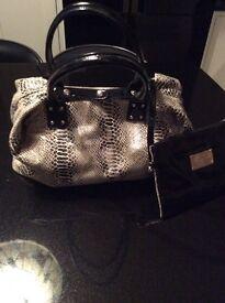 David Jones Black and White coloured Large Handbag.