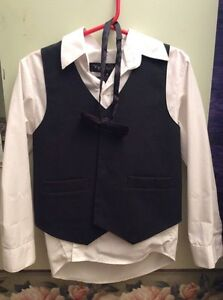 Boys suit and shirt and bowtie