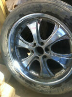 ford rims 22 and 20s with tires 340$