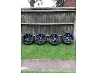 Mazda RX8 R3 BBS genuine wheels and tyres (fully refurbished gloss black, new tyres)