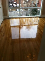 HARDWOOD FLOOR CARE - SAND STAIN AND FINISH