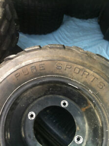 YAMAHA BLACK ITP FRONT WHEELS WITH PURE SPORTS TIRES Windsor Region Ontario image 4