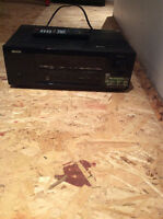 Denon receiver and 5 Bose speakers with subwoofer