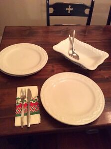 4 white plates and Italian bowl West Island Greater Montréal image 1