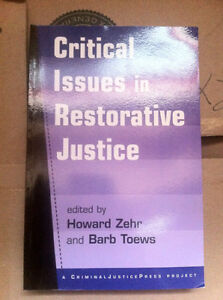Critical Issues in Restorative Justice by Howard Zehr and Barb T