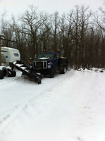 1990 International Single axle Plow Truck w/Dump box and sander