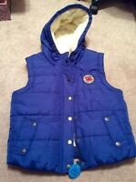 Size L women's fleece lined vest with hood - new with tags!