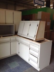 White kitchen cabinets uppers and lowers