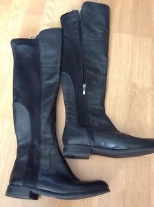FRANCO SARTO tall leather riding boots size6.5 London Ontario image 1