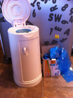 Diaper pail with 22 refill bags