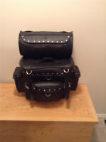 INCREDIBLE CONDITION Leather T Saddle Bags