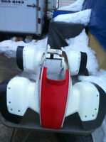 HONDA TRX250R OEM FRONT FENDERS AND TOP COVER WITH STICKERS