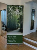 ARBONNE, Pull up Banner - 6' and table runner display