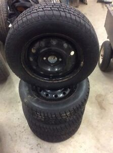 185/65/14  Cooper Winter tires and rims x 4 Stratford Kitchener Area image 2
