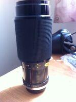 Zoom lens fits Olympus camera