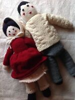 "Gorgeous 20"" Pioneer Knitted Dolls"