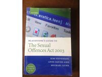 Sexual offences act 2003 law book
