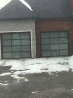 Porte de garage Full Vitrées Neuve Installer