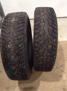 LT245/75R17 Studded Snow Tires (10 Ply)