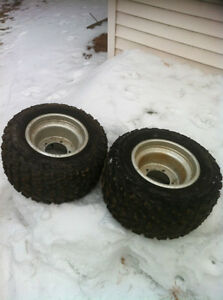 ATV 5 BOLT DID WHEELS WITH STUDDED TIRES FOR ICE Windsor Region Ontario image 6