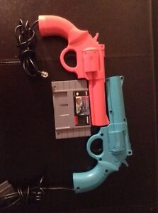 Lethal Enforcers SNES With Player 1&2 light guns