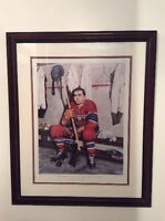 Maurice Richard True Limited Edition print with real autograph