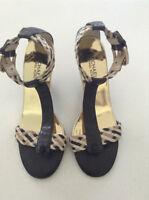 "Original Michael Kors 7 1/2 black 3"" heels with braided straps"