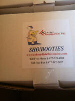 Box of Shoe / Boot Covers ( booties) 1300 Qt - New in the box